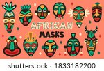 African Ancient Masks. Tribe...