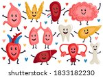 cute internal organs. healthy... | Shutterstock .eps vector #1833182230