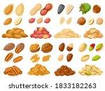 cartoon nuts. almond  peanut ...   Shutterstock .eps vector #1833182263