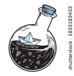 Paper Boat In A Bottle...
