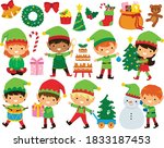 Christmas Elves Clipart Set....