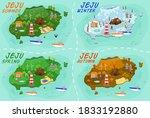 jeju island travel map. travel... | Shutterstock .eps vector #1833192880