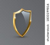 golden shield frame design.... | Shutterstock .eps vector #1833199816
