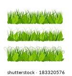 collection grass | Shutterstock .eps vector #183320576