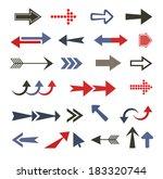 arrow set | Shutterstock .eps vector #183320744