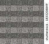 monochrome patchwork check... | Shutterstock .eps vector #1833208849