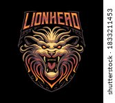 Lion Head Wildlife Vector...