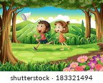 illustration of the kids... | Shutterstock .eps vector #183321494