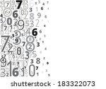 black numbers vector background ... | Shutterstock .eps vector #183322073