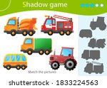 shadow game for kids. match the ... | Shutterstock .eps vector #1833224563