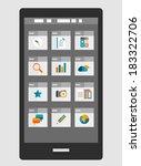 mobile phone apps trendy flat...   Shutterstock .eps vector #183322706