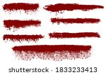 bloody streaks  red paint... | Shutterstock .eps vector #1833233413