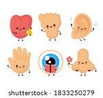 Cute Happy Human Senses Organ...