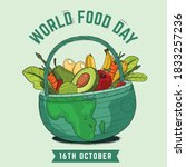 world food day background with...   Shutterstock .eps vector #1833257236