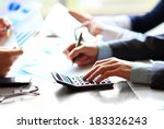 business people counting on... | Shutterstock . vector #183326243