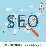 concept of seo word combined... | Shutterstock .eps vector #183327284