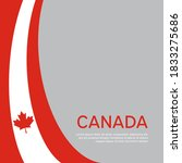 abstract waving flag of canada. ... | Shutterstock .eps vector #1833275686