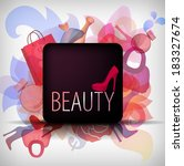 eps10 beauty background with... | Shutterstock .eps vector #183327674