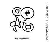 smm management thin line icon ...   Shutterstock .eps vector #1833278020