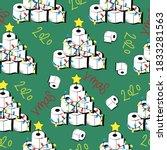 seamless pattern for christmas  ... | Shutterstock .eps vector #1833281563