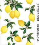 lemon seamless vector pattern.... | Shutterstock .eps vector #1833286189