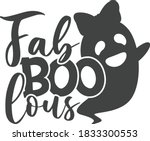fab boo lous  with girly ghost  ...   Shutterstock .eps vector #1833300553