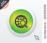 global search sign icon. world...