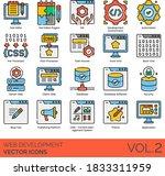 web development icons including ... | Shutterstock .eps vector #1833311959