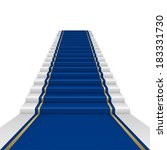 blue carpet with guard.... | Shutterstock .eps vector #183331730