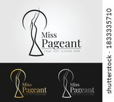 miss pageant logo sign with... | Shutterstock .eps vector #1833335710