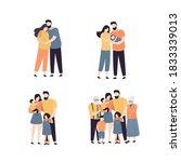 set of various types of family... | Shutterstock .eps vector #1833339013