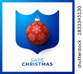 merry and safe christmas. red...   Shutterstock .eps vector #1833345130