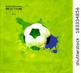 creative soccer vector design | Shutterstock .eps vector #183334856