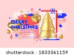 merry christmas and happy new... | Shutterstock .eps vector #1833361159