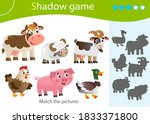 shadow game for kids. match the ... | Shutterstock .eps vector #1833371800