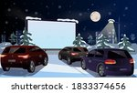 winter cinema for cars in the... | Shutterstock .eps vector #1833374656