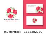 abstract rose logo design with... | Shutterstock .eps vector #1833382780