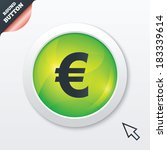 euro sign icon. eur currency...