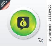 money bag sign icon. euro eur...