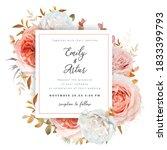 vector wedding invite card ... | Shutterstock .eps vector #1833399793