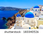 Blue Domed Churches On The...