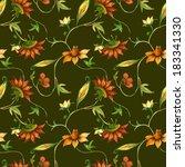 folk seamless pattern  | Shutterstock . vector #183341330
