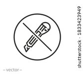 do not cut icon  no stationery... | Shutterstock .eps vector #1833423949