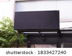 large blank billboard on a... | Shutterstock . vector #1833427240