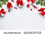 merry christmas and happy... | Shutterstock . vector #1833429703