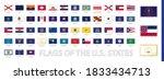 postage flag set  us state...   Shutterstock .eps vector #1833434713