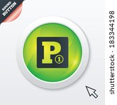 paid parking sign icon. car...