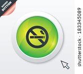 no smoking sign icon. cigarette ...