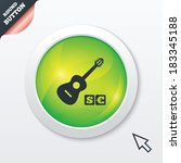 acoustic guitar sign icon. paid ...