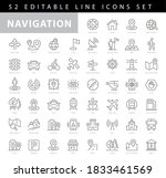 simple set of route related...   Shutterstock .eps vector #1833461569